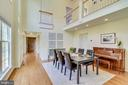 Unique & open 2-story dining room - 7945 BOLLING DR, ALEXANDRIA