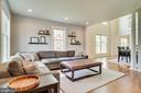 Living room with recessed lights & custom shades - 7945 BOLLING DR, ALEXANDRIA