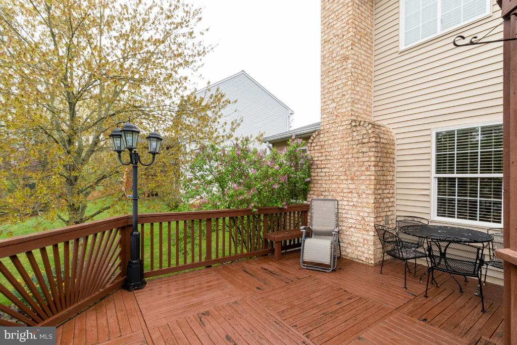 Large deck used to entertain and grill - 706 RANDI DR SE, LEESBURG