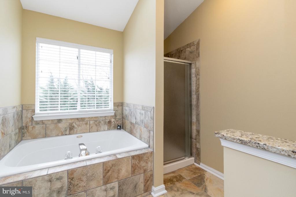 Newer tile surrounding tub in bath #1 - 706 RANDI DR SE, LEESBURG