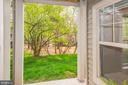 View from sliding glass doors in living room - 1791 JONATHAN WAY #A, RESTON