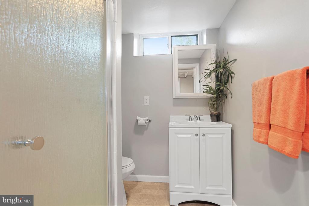 Full bath on lower level - 1033 N MONROE ST, ARLINGTON