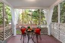 Lovely porch off the Living Room - 1033 N MONROE ST, ARLINGTON