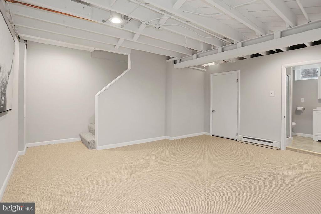 Lower level with full bath - 1033 N MONROE ST, ARLINGTON