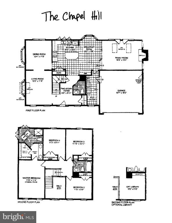 Floorplan Main & Upper Levels - 16644 CAXTON PL, DUMFRIES
