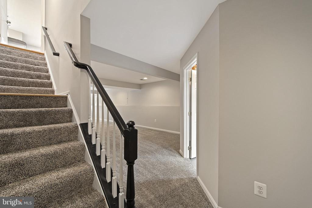 Stairs to lower level - 43490 MINK MEADOWS ST, CHANTILLY