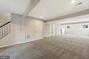Lower level finished recreation room - 43490 MINK MEADOWS ST, CHANTILLY