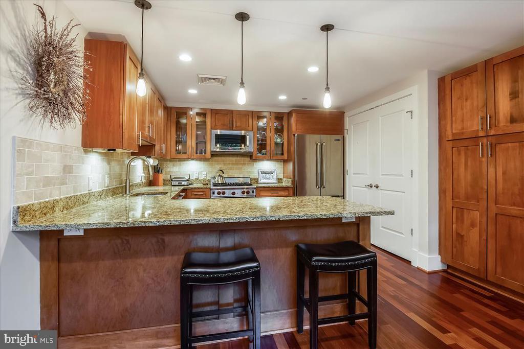 Gourmet Kitchen with Breakfast Bar. - 1615 N QUEEN ST #M204, ARLINGTON