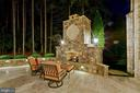 12' Outdoor Stone, Gas Fireplace - 22608 CREIGHTON FARMS DR, LEESBURG