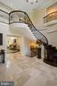 Front Hall Foyer with Floating Staircase - 22608 CREIGHTON FARMS DR, LEESBURG