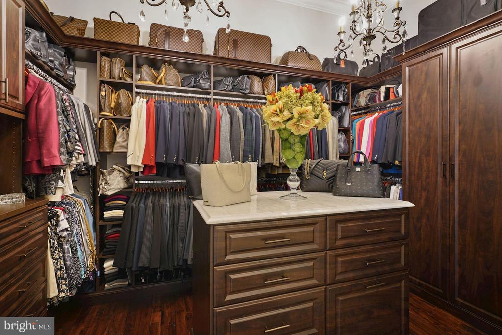 Tailor Designed Owner's Closet Holds 300+ shoes! - 22608 CREIGHTON FARMS DR, LEESBURG