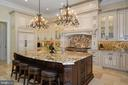 Gourmet Chef's Kitchen with 9.5' Island - 22608 CREIGHTON FARMS DR, LEESBURG