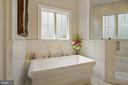 Air Bubbler Soaking Tub in Owner's Bathroom - 22608 CREIGHTON FARMS DR, LEESBURG