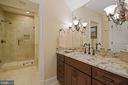 En-Suite Guest Bathroom on Upper Level - 22608 CREIGHTON FARMS DR, LEESBURG