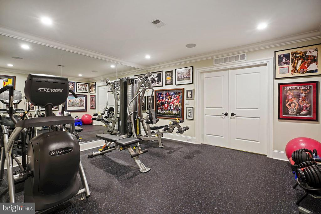 Home Gym with Hard Rubber Flooring - 22608 CREIGHTON FARMS DR, LEESBURG
