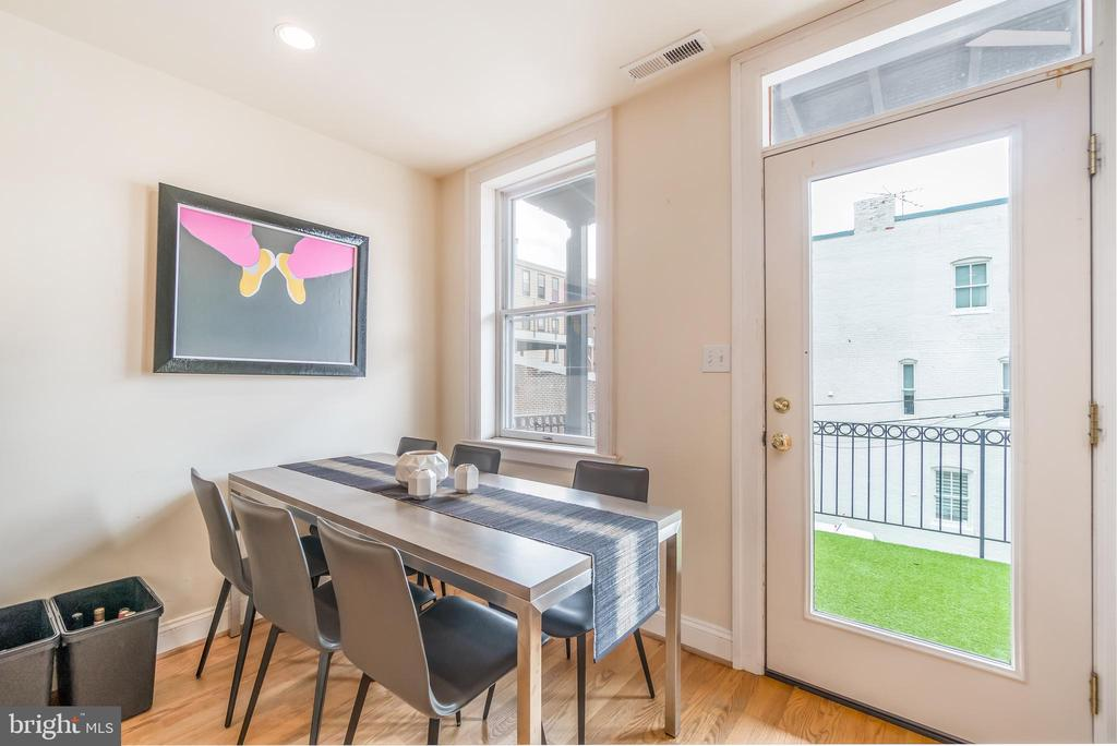 Dining area in Unit 2 - 1723 19TH ST NW, WASHINGTON