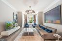 Chic living room with bay window, Unit 1 - 1723 19TH ST NW, WASHINGTON