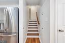 Wood stairway to upstairs bedrooms - 330 TULIP CIR, FREDERICKSBURG
