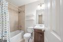 Upstairs hall bathroom with tub/shower tile - 330 TULIP CIR, FREDERICKSBURG