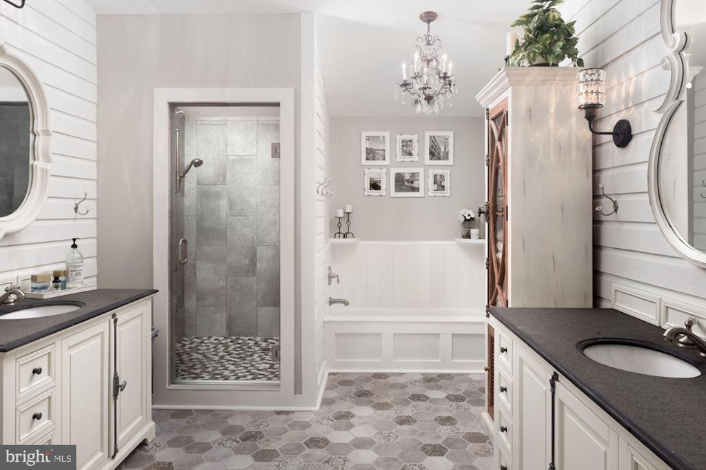 Luxurious Master Bathroom - 20857 ASHBURN RD, ASHBURN
