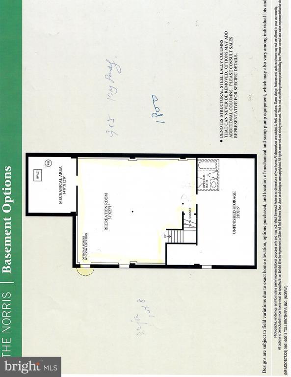 Lower level floor plan - 22525 WILLINGTON SQ, ASHBURN