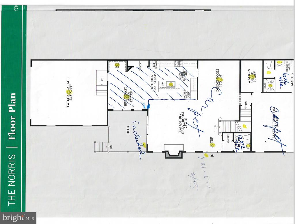 Main level floor plan (masterbed + full bathroom) - 22525 WILLINGTON SQ, ASHBURN