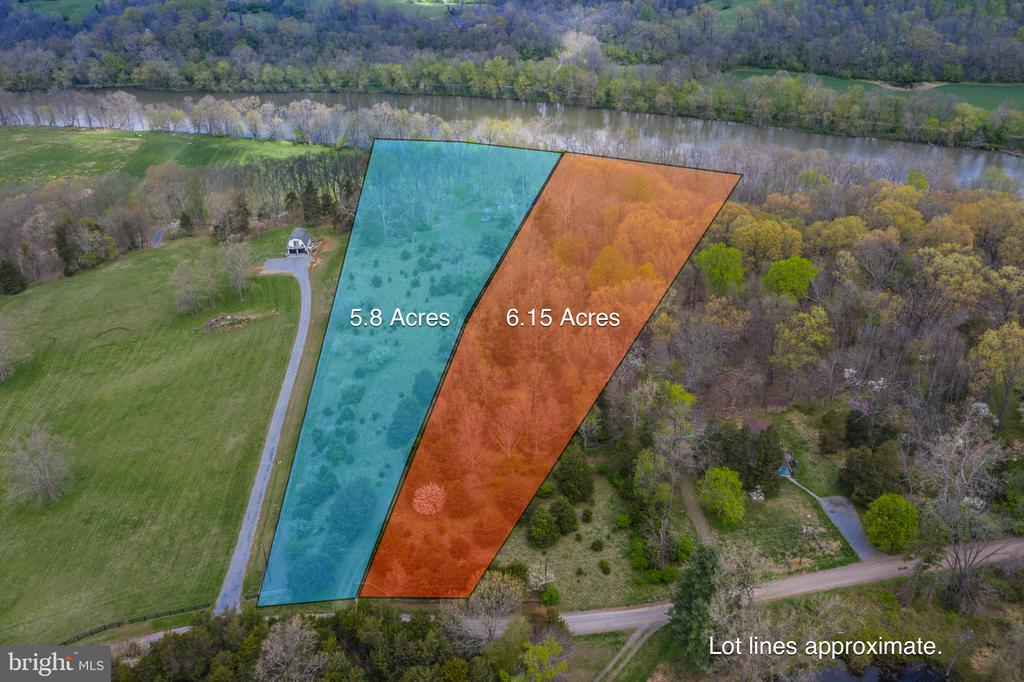 Lot 64A is on the left.  Lot 65A is on the right - 4034 CALMES NECK LN, BOYCE