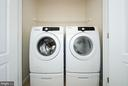 Front loading washer and dryer on Main level - 63 HARPERS MILL WAY, LOVETTSVILLE