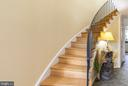 Foyer/Curving Staircase - 2309 N SIBLEY ST, ALEXANDRIA