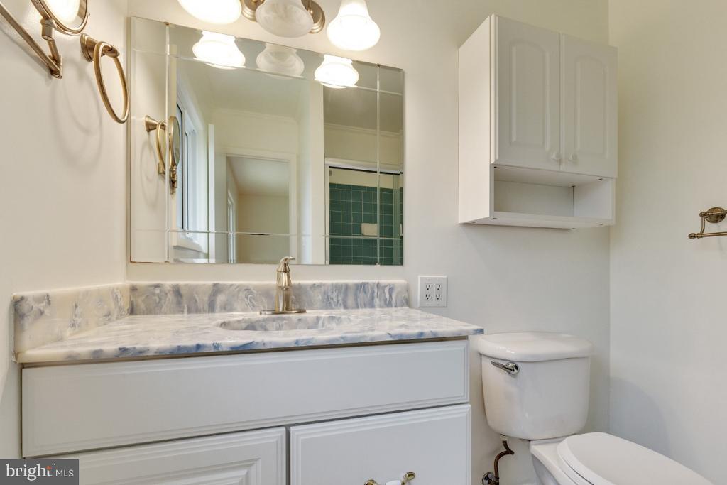 En-suite primary bathroom with updated vanity - 5041 KING RICHARD DR, ANNANDALE