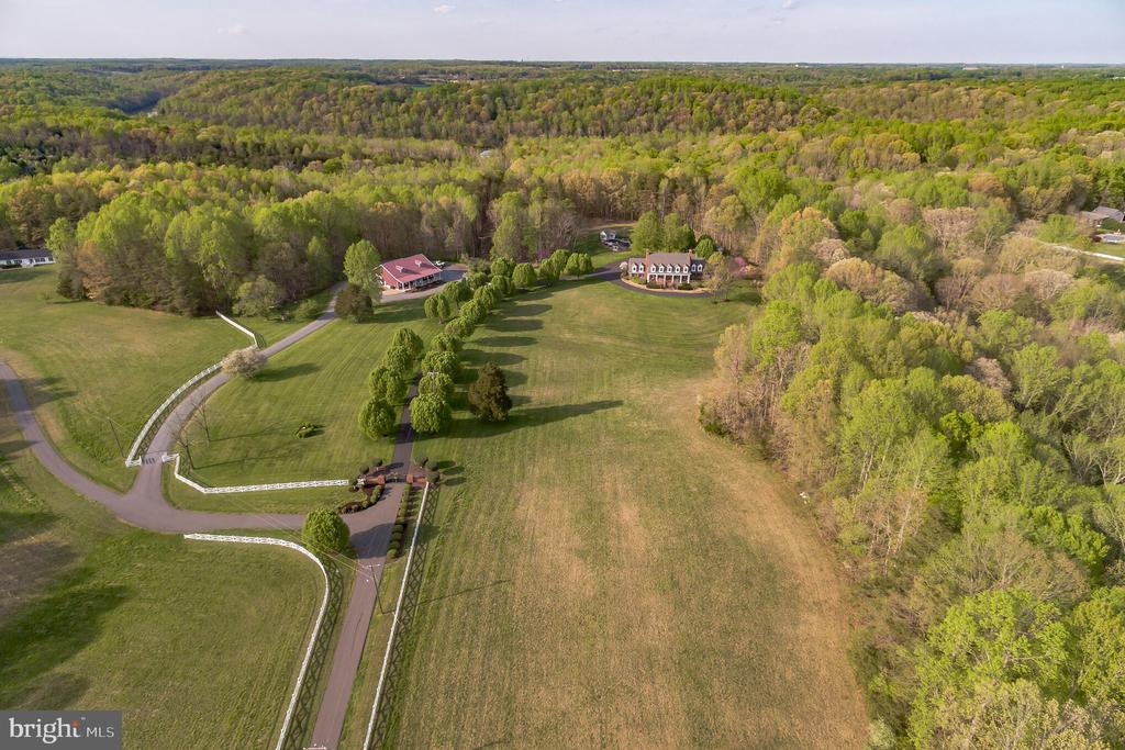 Aerial View of 23.76 Acres - 12620 CHEWNING LN, FREDERICKSBURG