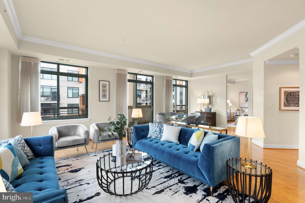 Spacious Living Room and Dining Room - 3625 10TH ST N #903, ARLINGTON