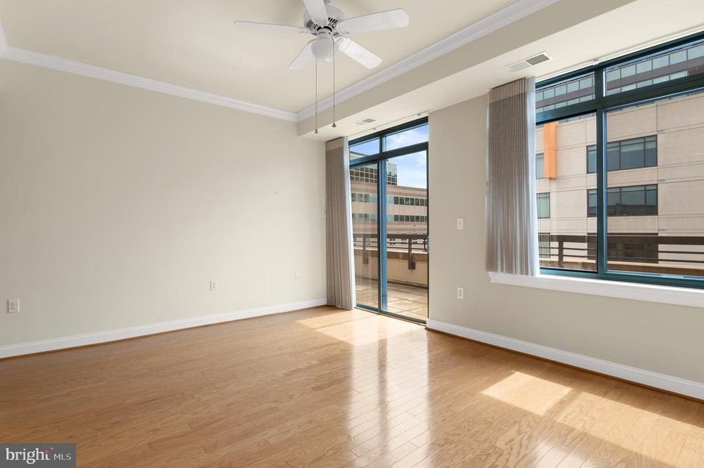 Primary Bedroom with doors to large terrace/patio - 3625 10TH ST N #903, ARLINGTON