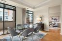 Dining Room with 2 doors to spacious patio - 3625 10TH ST N #903, ARLINGTON