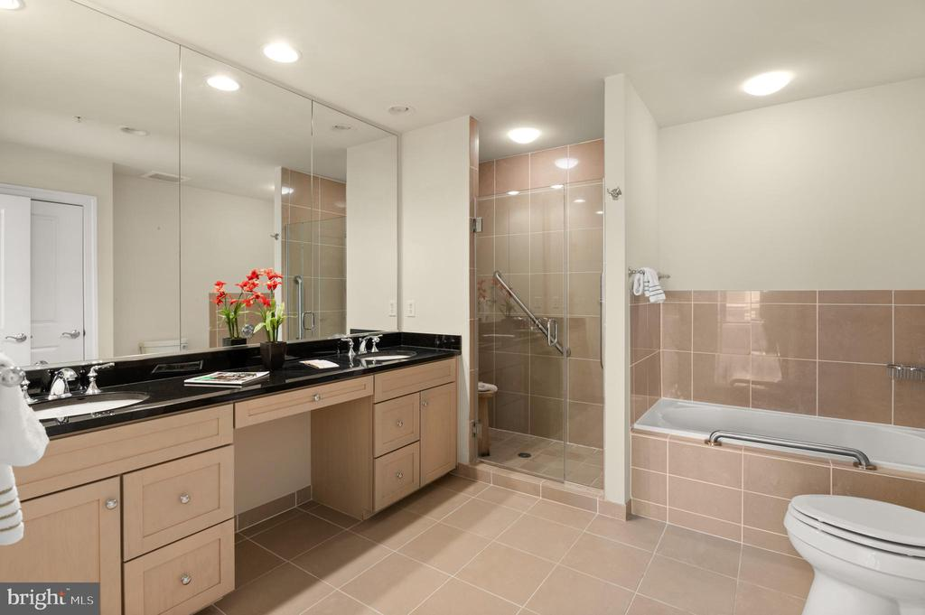 Primary Bathroom with glass shower & separate tub - 3625 10TH ST N #903, ARLINGTON