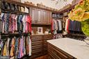 Custom Owner's Closet with Built-in Dresser - 22608 CREIGHTON FARMS DR, LEESBURG