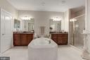 Jacuzzi tub,,2 vanities, 2  of 3 walk-in Closets - 18362 FAIRWAY OAKS SQ, LEESBURG