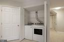 Laundry lower level - 25532 GOVER DR, CHANTILLY