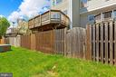 Fenced yard and huge private deck! - 25532 GOVER DR, CHANTILLY