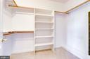 One of three closets in the main bedroom! - 18359 EAGLE POINT SQ, LEESBURG