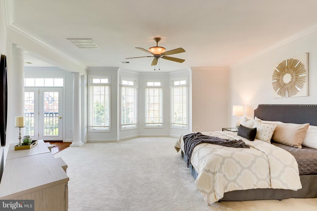 Spacious and bright with ceiling fan - 18359 EAGLE POINT SQ, LEESBURG