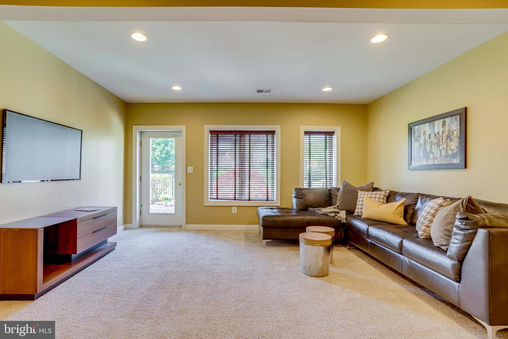 Rec room with door to patio - 18359 EAGLE POINT SQ, LEESBURG