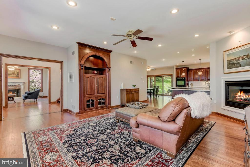 Family Room | Hardwood Floors | Fireplace - 8329 MYERSVILLE RD, MIDDLETOWN