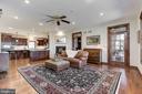 Family Room | Red Oak Hardwood Floors - 8329 MYERSVILLE RD, MIDDLETOWN