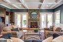 Elegant yet comfortable living room - 815 BLACKS HILL RD, GREAT FALLS