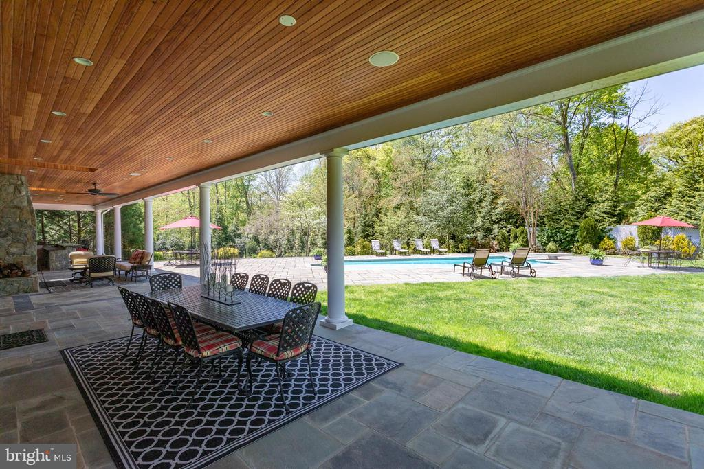 The back yard is an Entertainer's delight! - 815 BLACKS HILL RD, GREAT FALLS