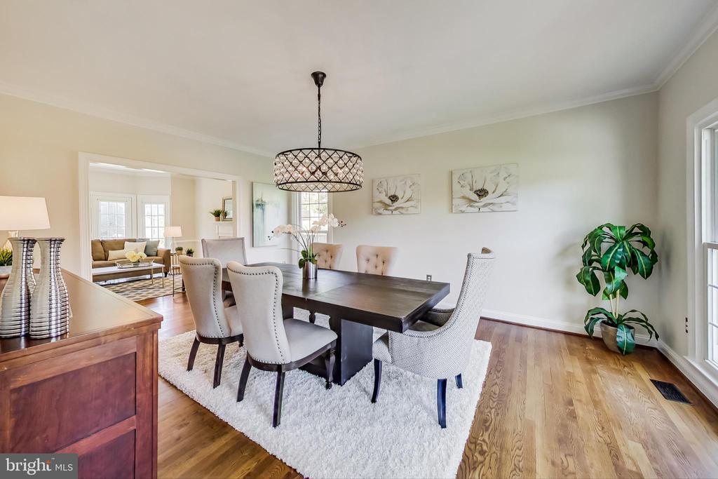 Formal Dining Room w/ Restoration Hardware Fixture - 12600 HOMEWOOD WAY, FAIRFAX