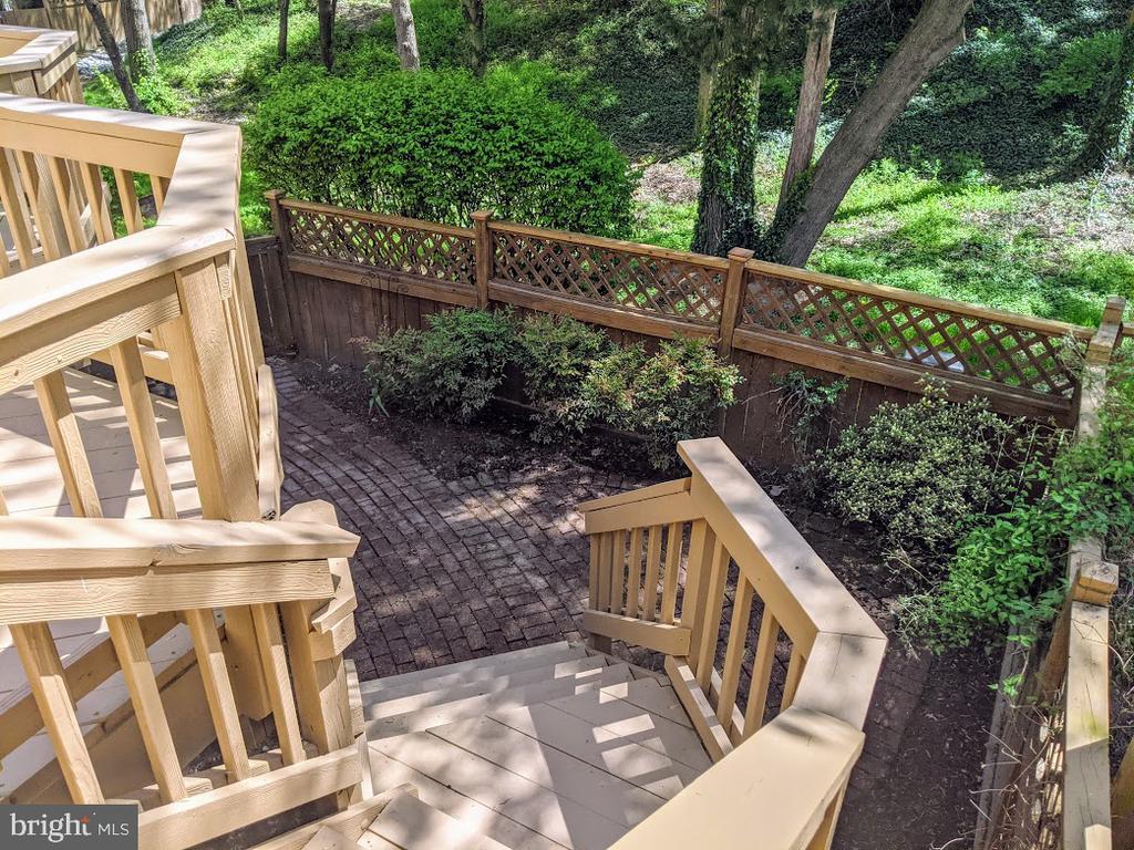 View of Gardens Below - 10481 COURTNEY DR, FAIRFAX