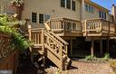 Recently renovated rear deck - 10481 COURTNEY DR, FAIRFAX
