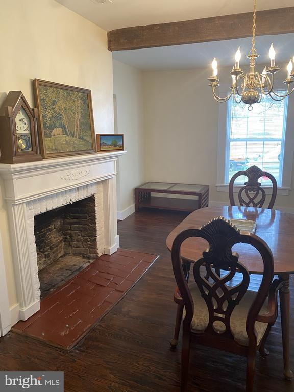 Gas Fireplace in the Dining Room - 1951 MILLWOOD RD, MILLWOOD